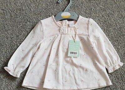 Baby Girls' Mini Club at Boots Pink Top with Rabbit Pattern Age 3-6 Months