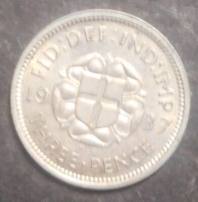 Great Britain 1937 George VI   3d Threepence Silver Coin High Grade