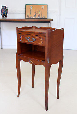 French Side Table Walnut Lamp Table Bedside Louis Walnut Mahogany Antique Repro