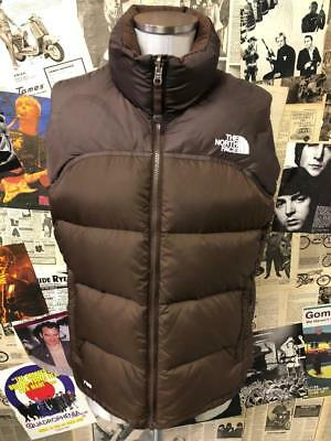Ladies Genuine North Face 700 Goose Down Feather Body Warmer Gilet Brown  Medium 829374471