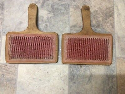 Hand Carders - Large Wooden Pair For Spinning/felting