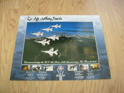 U.s. Air Force Thunderbirds 60Th Anniversary Poster