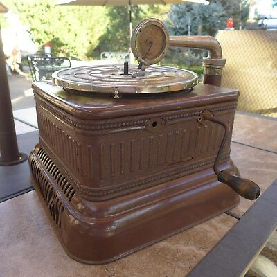 Antique 78 Rpm Phonograph Victrola That Has Been Modified From Numerous Machines