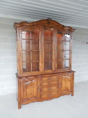Ethan Allen Country French 2 Pc Lighted China Cabinet 26-6316 Finish 236
