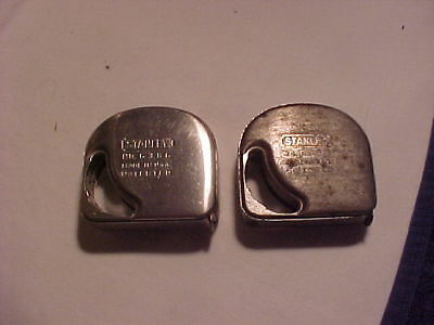 2 VINTAGE STANLEY TAPE MEASURE 6386 72 inch Direct Reading Used