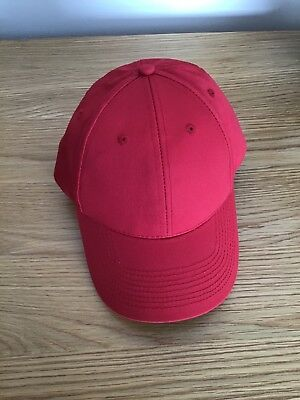JOBLOT NEW RED BASEBALL CAPS x 11