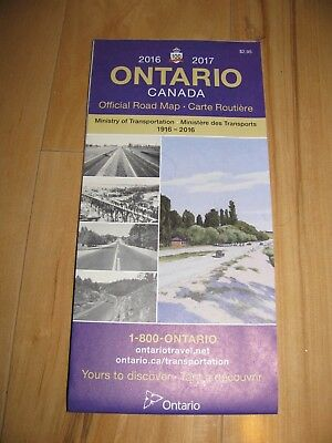 2016 2017 Ontario Canada Official Map Road Highway Map Travel