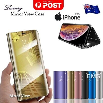 Luxury Smart Mirror View Flip Case Cover For Apple iPhone X XS Max XR 7 8 Plus