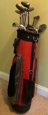 Acuity Golf Club Bag With 16 Diffe Clubs Balls