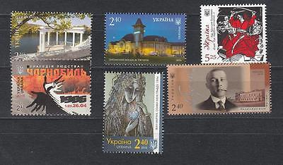 Ukraine MNH** 2016 Mi. 1527,1532,1539,1541,1542,1543 Lot single stamps