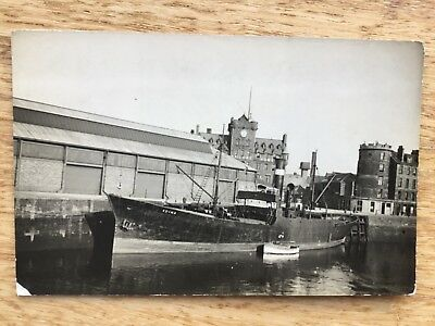 Postcard - The Harbour Leith  With The Sailors Home In Background.