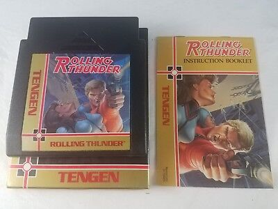 Rolling Thunder Nes Nintendo Games Tengen Good Labels With Manual