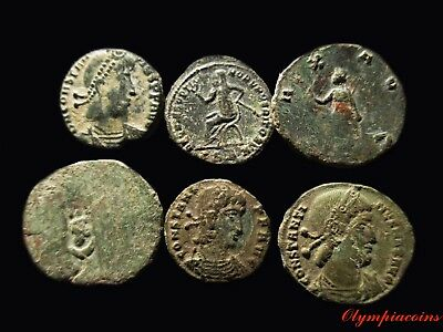LOT OF 6 * VERY FINE * Ancient ROMAN Bronze coins