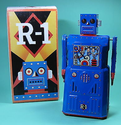 Great Original R1 Roboter Robot Rocket Usa Roboter Lack Rare Blue Edition!
