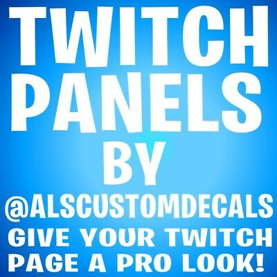 Twitch Panels for your Twitch.tv Homepage