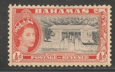 Bahamas #158 (A17) VF MINT OG - 1954 1/2p Infant Welfare Clinic / Q.E. II