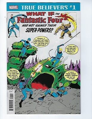 True Believers: What If Fantastic Four Had No Super-Powers # 1 (Dec 2018) Nm New