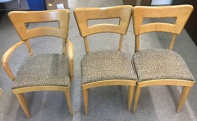 "MCM Heywood-Wakefield ""Dog Bone"" 1 Captain's & 5 side dining chairs.  NO RESERVE"