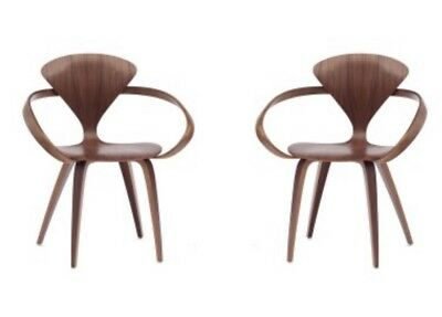 A Pair Of Original Norman Cherner Vintage chair with arms