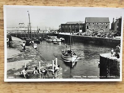Real Photograph Postcard - Leaving The Harbour, North Berwick.