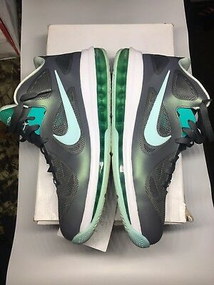 promo code cdf8f 4903d Nike Lebron 9 Low Grey Mint Candy Cool Grey Green Easter IX 510811-001 Size