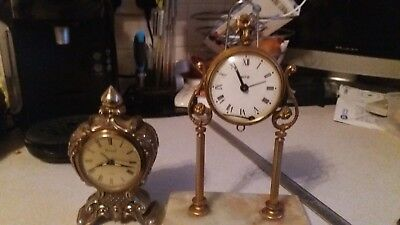 2 Vintage Mechanical Clocks Ritz And Coral Spares / Repairs