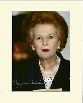Margaret Thatcher Conservative Prime Minister Pp Mounted Signed Autograph Photo