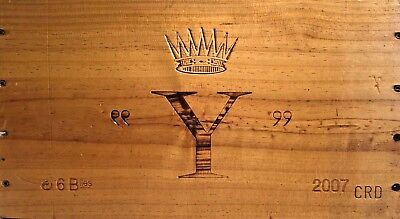 Chateau D'yquem France Wood Wine Crate Panel Sign 2007