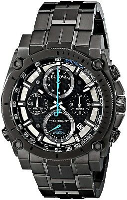 Bulova Men's 46mm Precisionist Gunmetal Gray Chronograph Watch