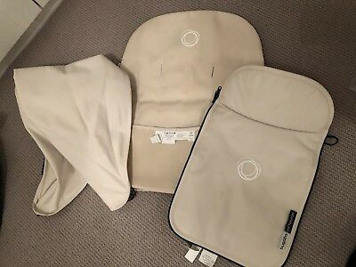 Bugaboo Cameleon Off White Accessorory Pack Hood Carrycot Apron & Seat Cover