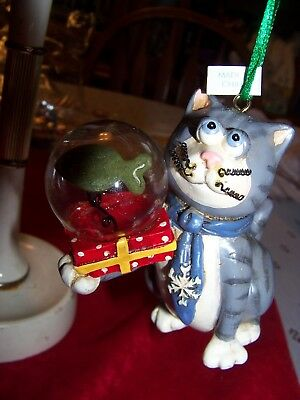 Christmas Ornament ;cat With Fish Bowl