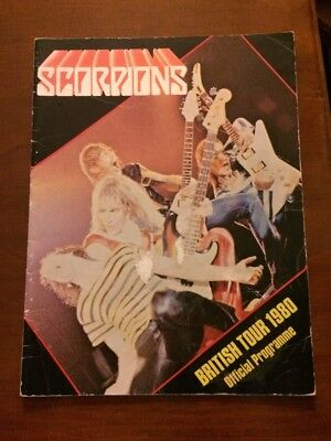 Scorpions British Tour 1980 Official Gig Programme Good Condition