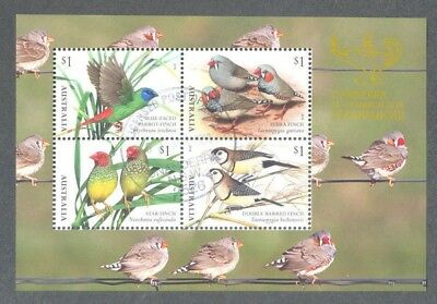 Australia 2018-Finches-Canberra Stamp Show-fine used min sheet - Birds