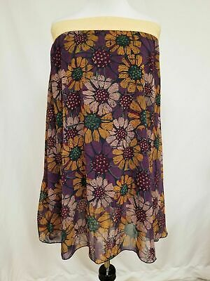 3990118dec New Lularoe Lola Skirt Small purple yellow cream floral flowers beautiful