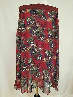 a53fbc7c05 New Lularoe Lola Skirt Small maroon purple green orange floral flowers  beautiful