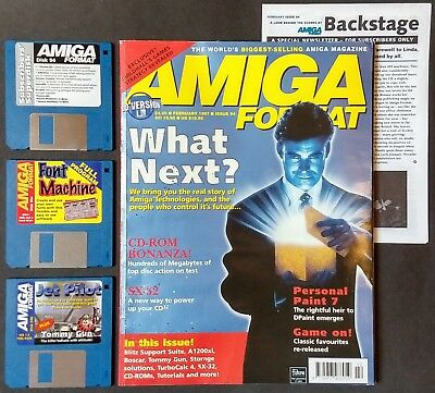 Amiga Format 94 (February 1997) with Backstage and Coverdisks