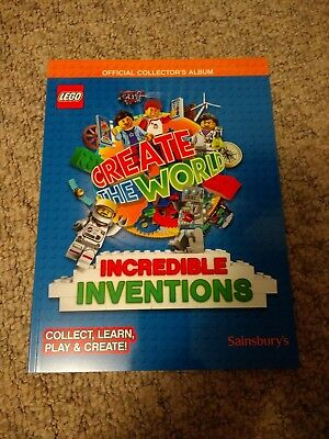 Sainsburys Lego Create the World Incredible Inventions Album and Cards