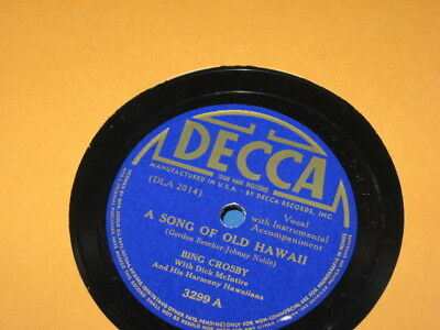 78 RPM, BING Crosby, A Song of Old Hawaii, Decca 3299, 1940 EXCELLENT++