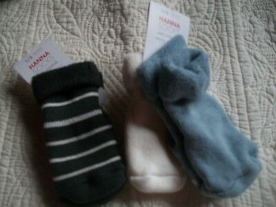 Hanna Andersson Best Ever First Socks 1/2   0 - 6 months  3 pair   NWT
