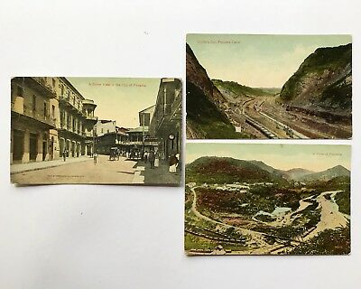 Lot of 3 Panama and Panama Canal Postcards - Underwood and Underwood