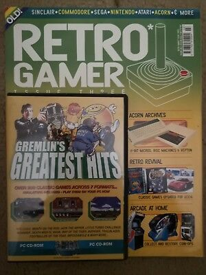 Retro Gamer Magazine Volume 1 Issue 3 includes Gremlin's Greatest HitsCover CD