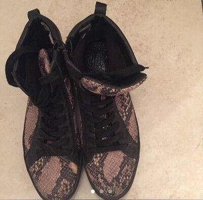 Snakeskin Línea high top trainers size 6