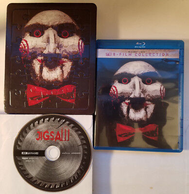 SAW Complete Unrated 8-Movie Collection+Puzzle+JIGSAW 4K ADDED (4xBlu-ray 5xDVD)