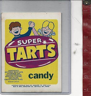 Vintage vending machine display Super Tarts candy card FREE SHIPPING