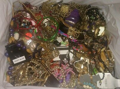 20.6lbs Large Lot Costume Jewelry Watches Bracelets Rings Earrings Necklaces