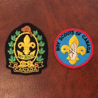 Boy Scouts Of Canada 2 Patches  Circa 1960  One Felt