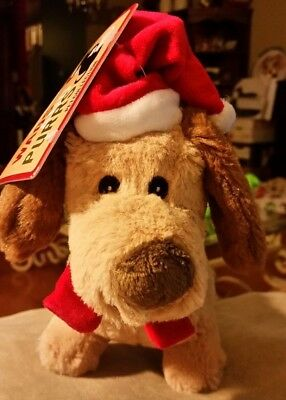 Christmas Santa Hat Dachshund Doxie Stuffed Pet Toy & Squeaker for Kids or Dogs