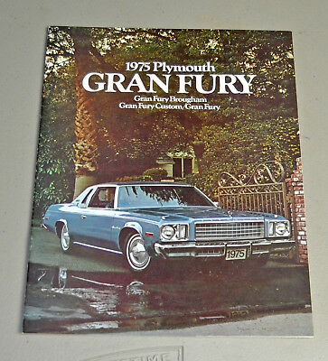 Clean 1975 Plymouth Gran Fury Brougham dealer brochure catalog lot 1 2 car auto