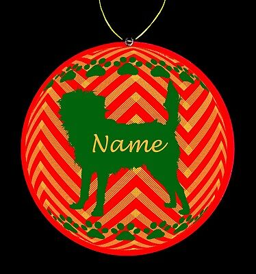 Affenpinscher Dog Breed Personalized Christmas Ornament