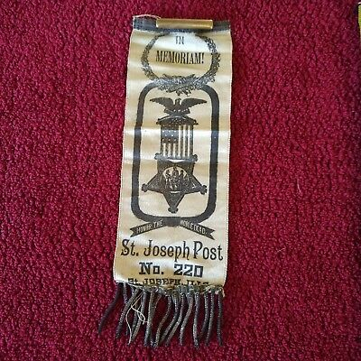 Grand Army of the Republic, St Joseph Illinois Post 220 Encampment Ribbon, 1890s